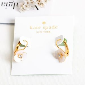 Kate Spade Disco Pansy Leverback Earrings